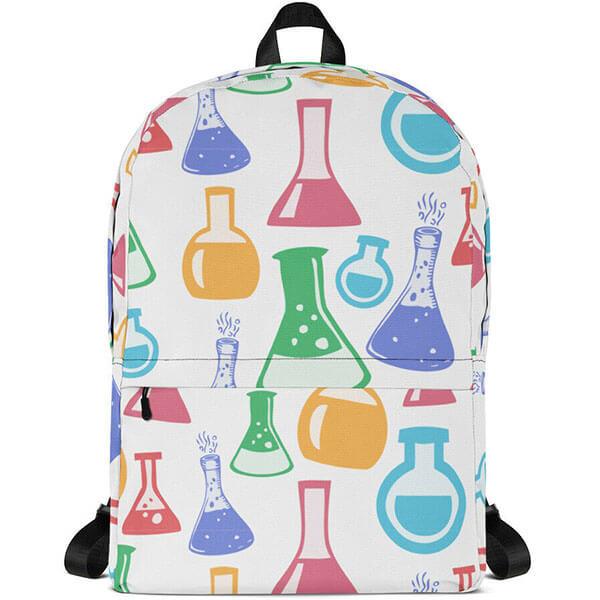 Glass Beakers- Laptop Backpack for School