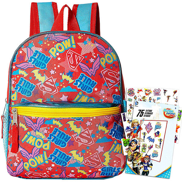 Multipoint Yellow Zipper Supergirl Backpack