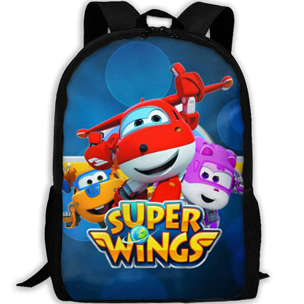 Oxford Fabric Super Wings Backpack for Boys and Girls