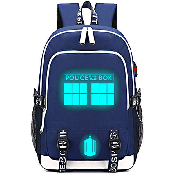 USB Charging Canvas Dr. Who Laptop Backpack
