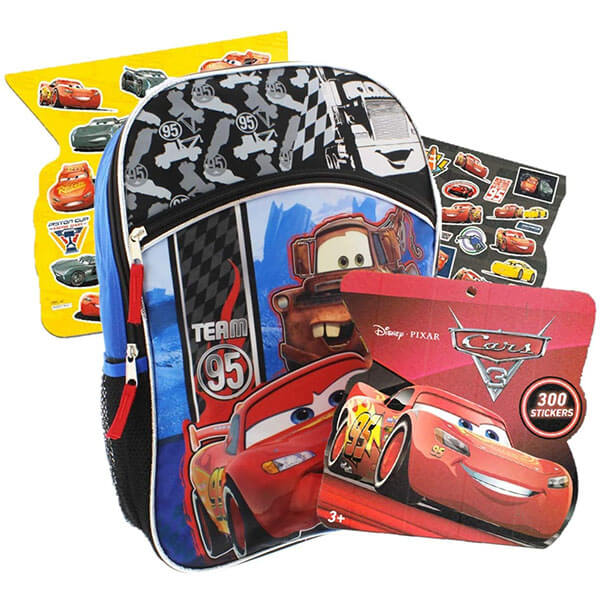 Awesome Disney Cars Backpack with Stickers