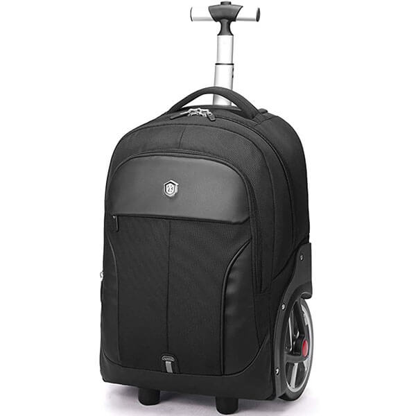 Marvelous RFID Protected Backpack with Large Wheels