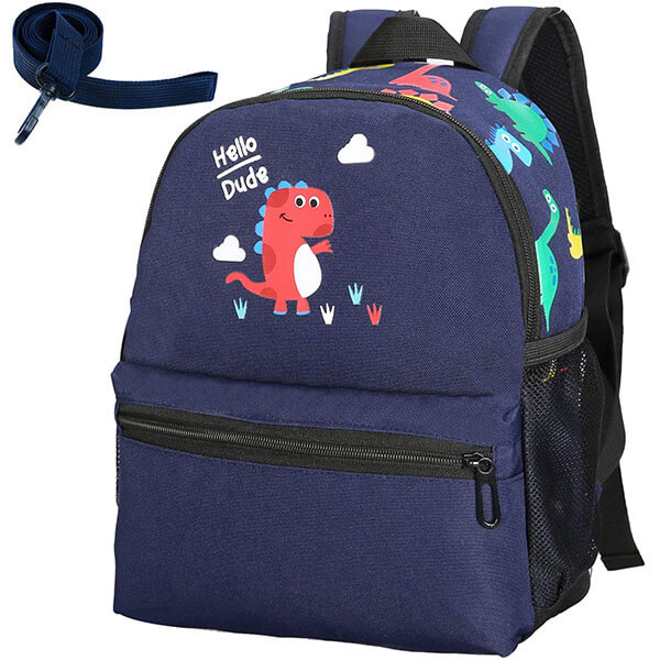 Oxford Vivid Dinosaur Backpack with Harness