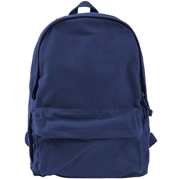 Cotton Canvas Solid Color Backpack