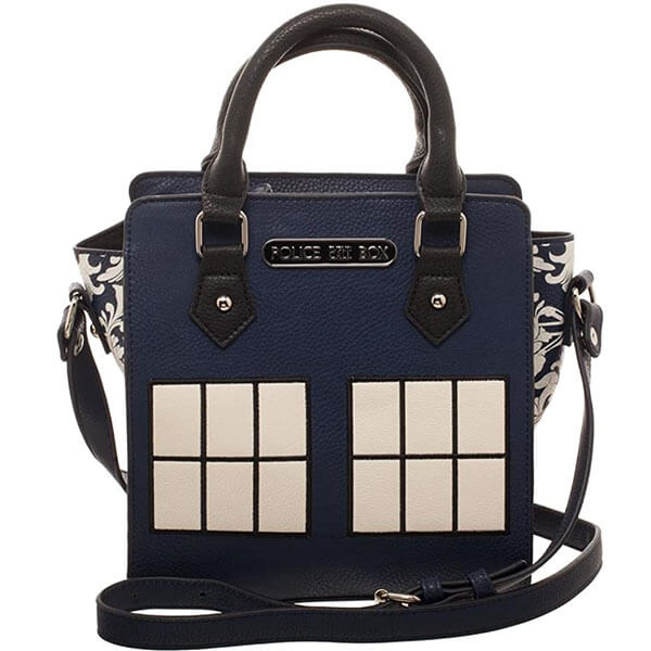 Fabric-Lined Brief Handbag Tardis Backpack