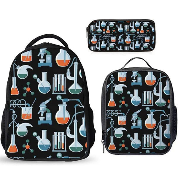 Hand Drawn Science Backpack Set