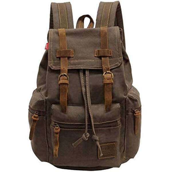 Canvas Vintage Casual Backpack for School