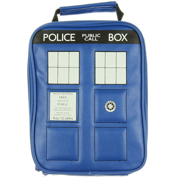 Navy Blue Insulated Backpack with Lunchbox
