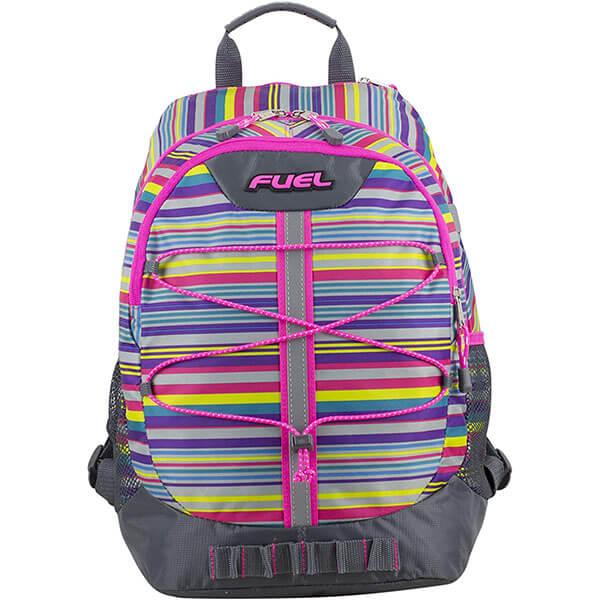 Sports Spacious Stripe School Backpack