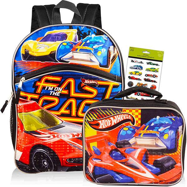Unisex Hot Wheels Backpack Set