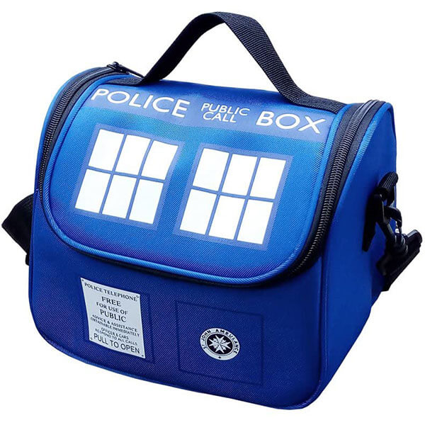 Blue Colored Police Public Call Lunch Bag