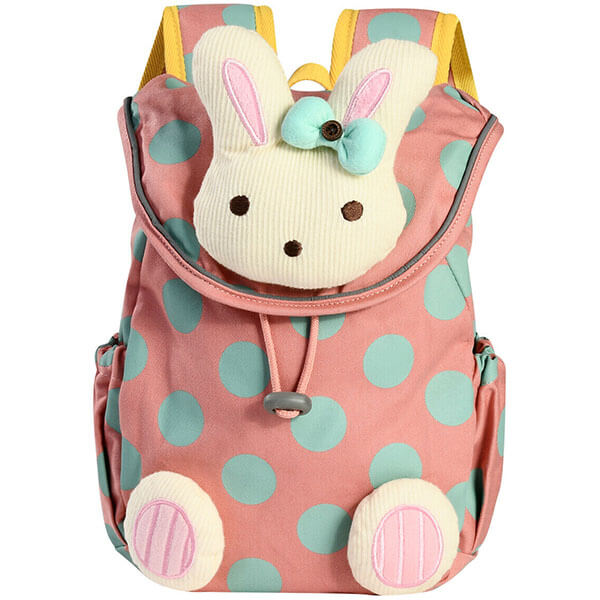 Rabbit Polka-Dot Printed Leash Backpack