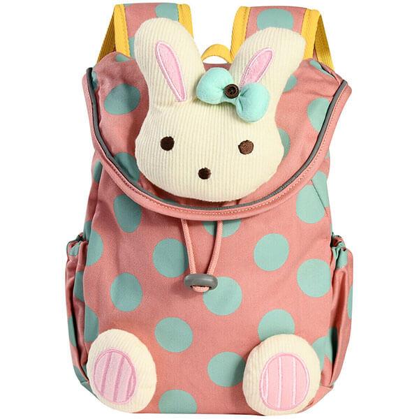 Rabbit Polka-Dot Printed Leash Backpack