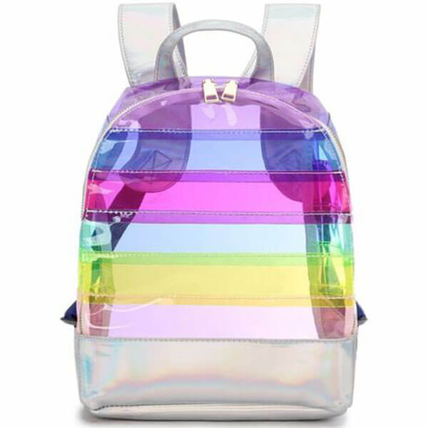 Color Striped Laser Plastic Backpack