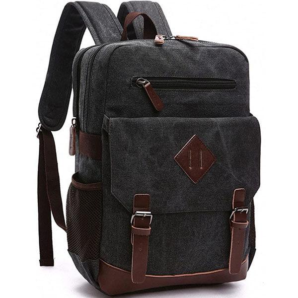 Gorgeous Vintage Canvas School Backpack