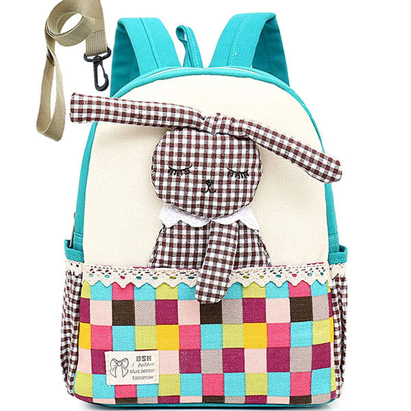Nylon Sling Rabbit Book Bag for Outdoors