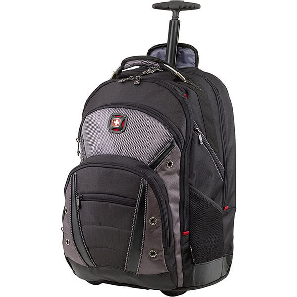 Fully Padded Wheeled Backpack with Trolley Handle