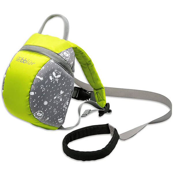Lime Colored Durable Leash Backpack