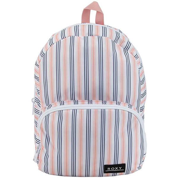 Bright White Women Stripe Mini Backpack