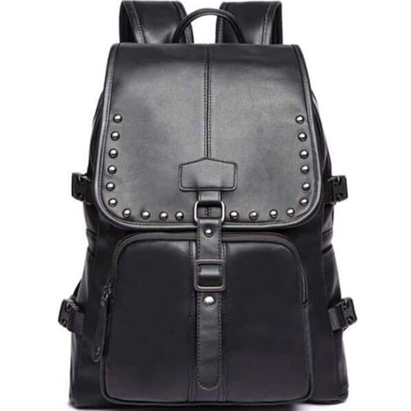 Unisex Classical PU Leather Backpack