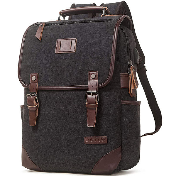 Vintage Leather Casual Backpack for School