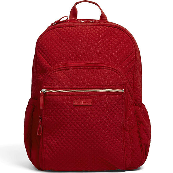 Solid Color Microfiber Campus Backpack