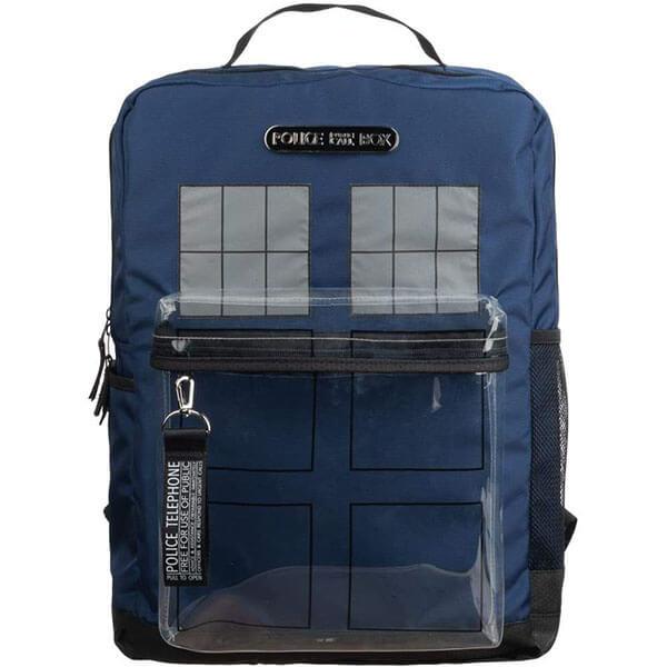 Blue Police Box Tardis Photo Backpack