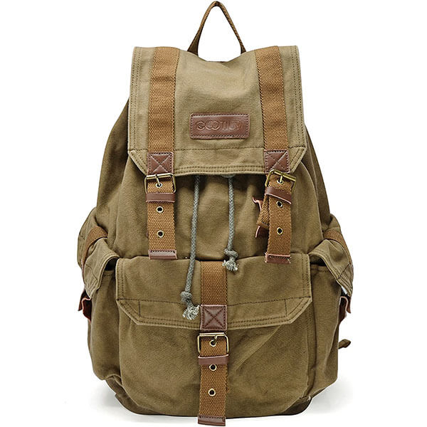 Multi-Colored Vintage Canvas Backpack