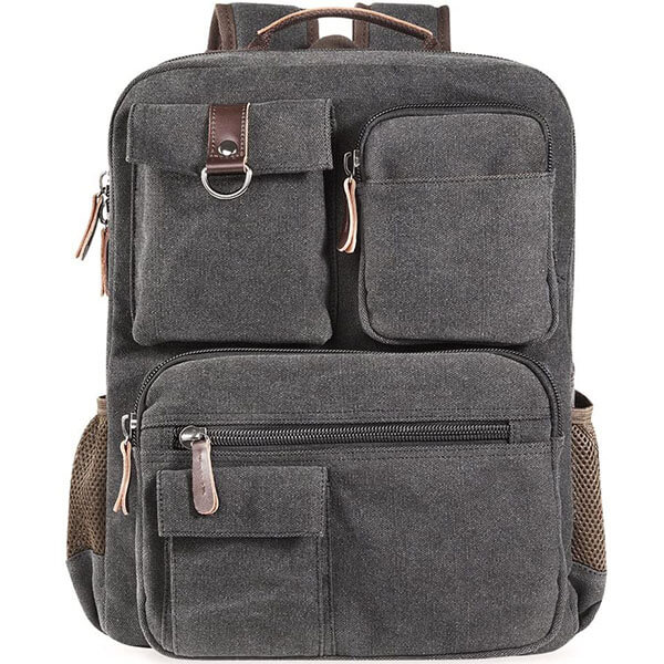 Multi-Colored Vintage Old School Backpack