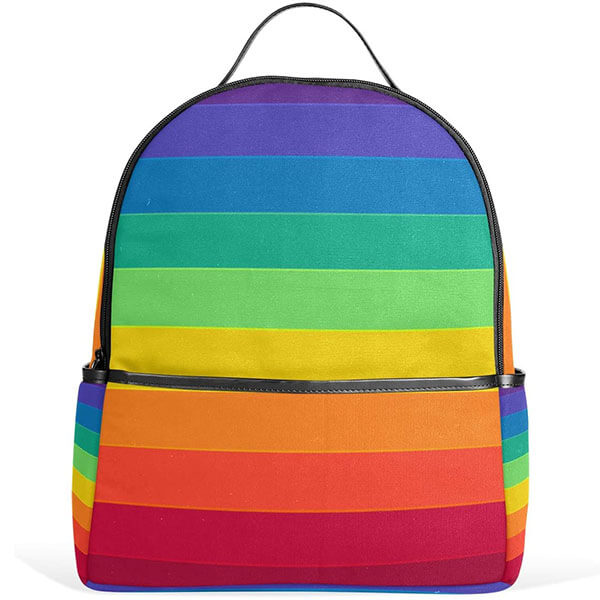 Youth Based Striped Rainbow Backpack