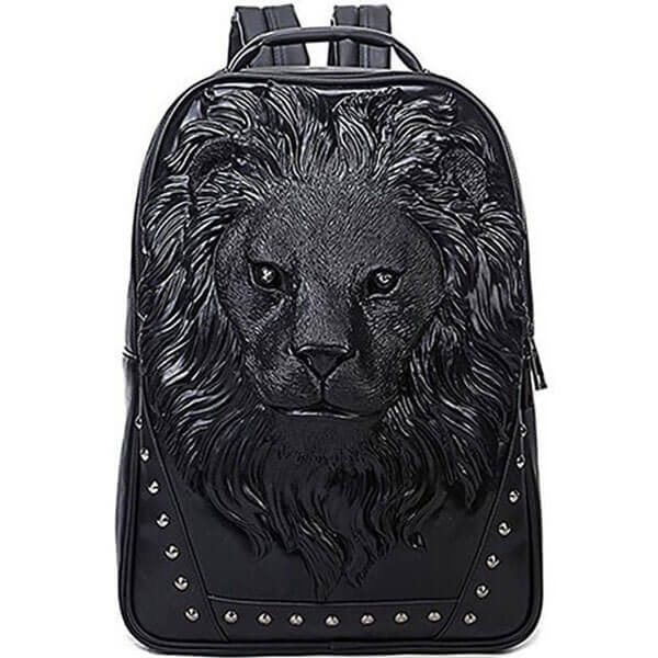 Laptop Backpack with 3D Lion Head