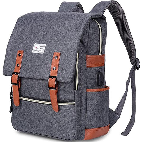 Modoker Vintage Multi-Colored Backpack for School