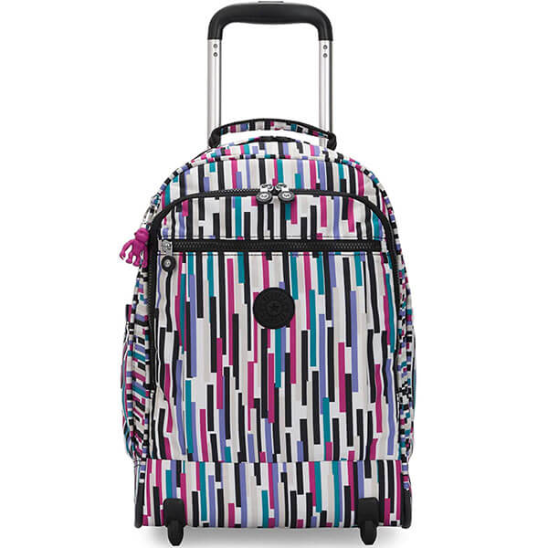 Rolling Women Large Striped Backpack