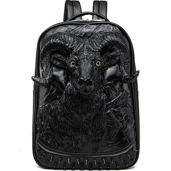 3D Goat Head Sculpture Backpack