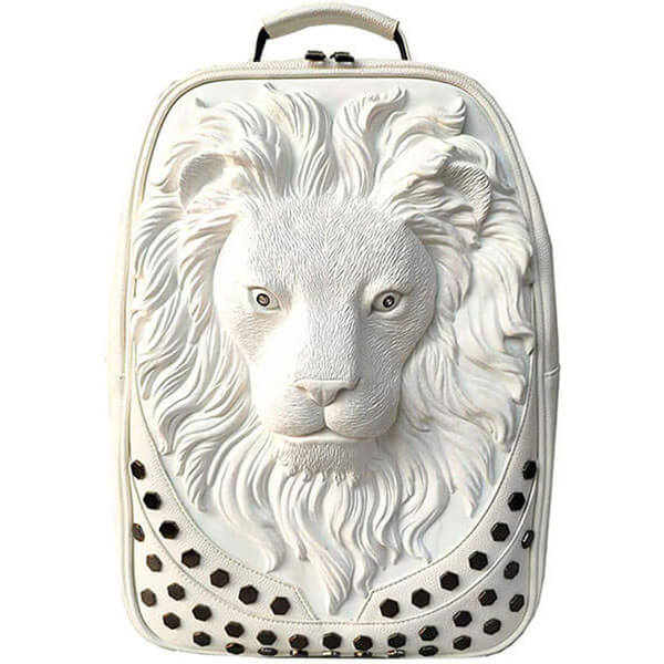 3D Lion Head Detailed Backpack