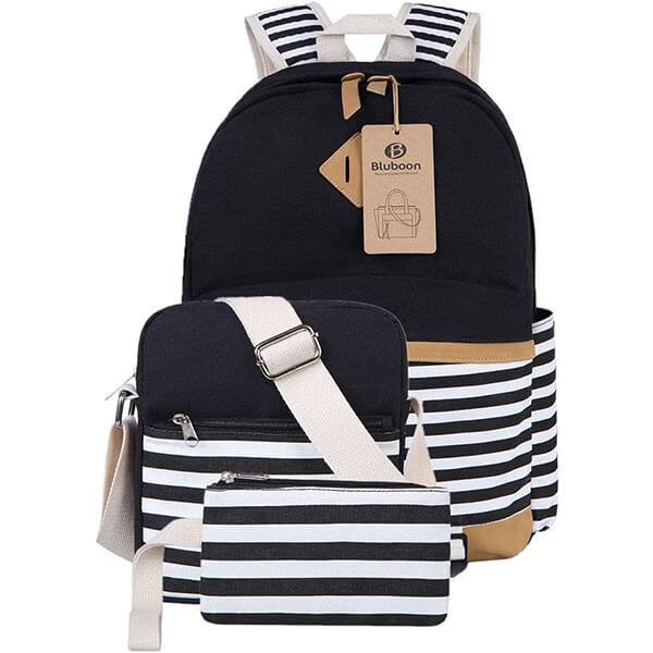 Casual Travelling Stripe School Backpack