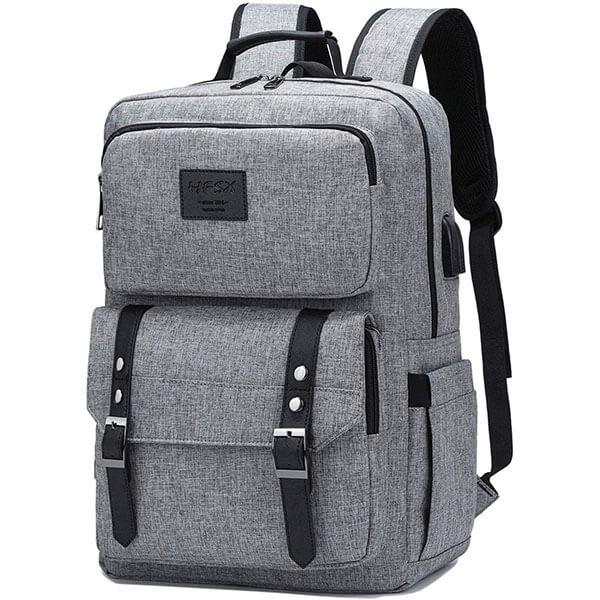 Water-Resistant Vintage Polyester Backpack