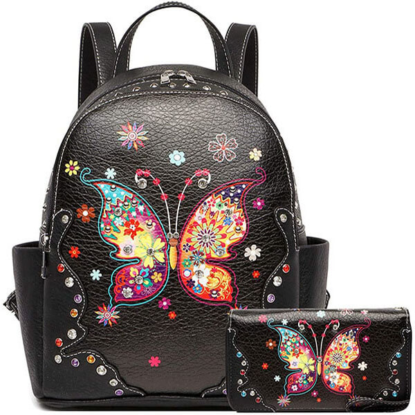 Butterfly Backpack with Marching Wallet Combo