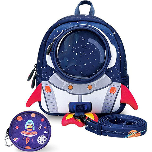 Space Themed Toddler Backpack with Harness