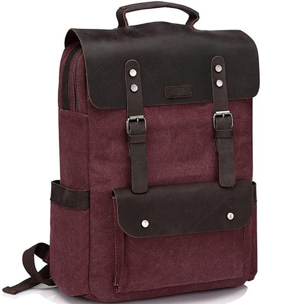 Vaschy Vintage Durable Old School Backpack