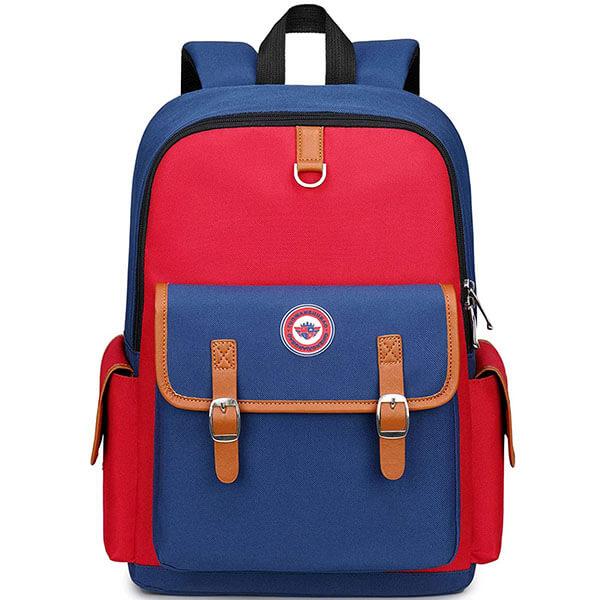 Water-Resistant Vintage Lightweight School Backpack