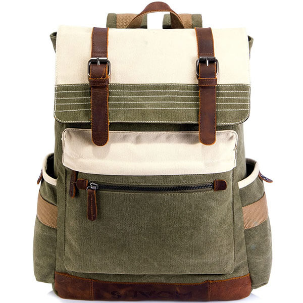 Old Fashioned Canvas School Backpack