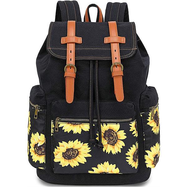Vintage Floral Canvas Backpack