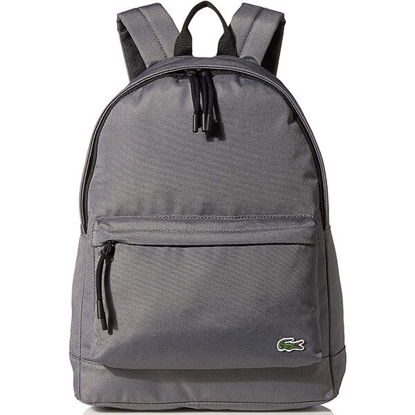 Solid Color Backpack with Canvas Lining