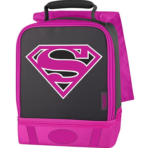 PEVA Linings Black Pink Supergirl Backpack