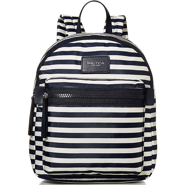 Navy Blue and Black Striped Formation Backpack