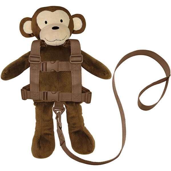 Plush Monkey Backpack with Chest Buckle