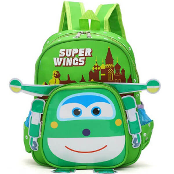 Super Wings Green Waterproof Backpack