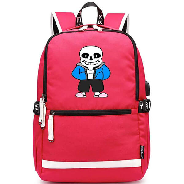 Unisex Pink Casual Undertale Sans Backpack
