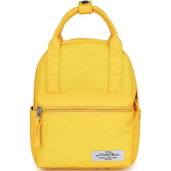 Waterproof Solid Color Backpack for Girls